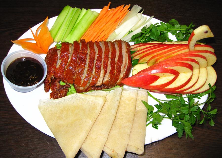 Πάπια Πεκίνου με πιτάκια
