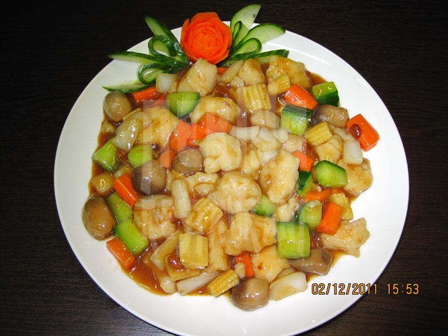 Ψάρι με σάλτσα Τζιανγκ Μπάο