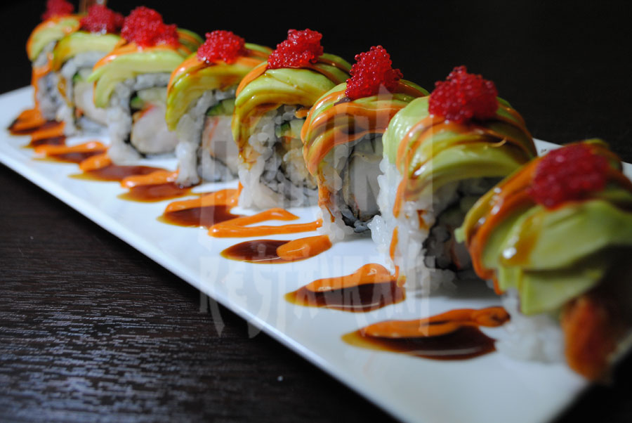 Special avocado sushi
